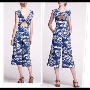 Anthropoligie Corey Lynn Carter Blue Jumpsuit
